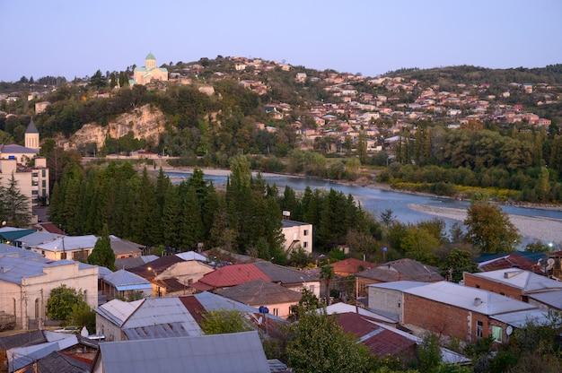 Bagrati cathedral view of the kutaisi city, georgia. Premium Photo