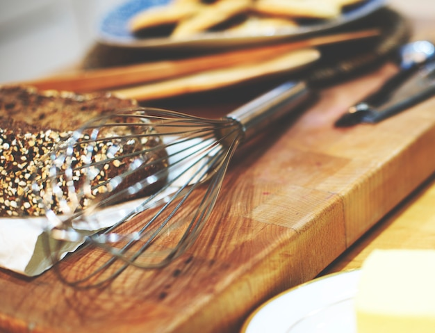 Bakery baking cook eggs pastry ingredients concept Free Photo