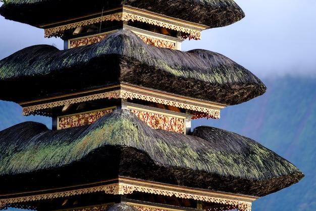 Bali pagoda close up, indonesia Free Photo
