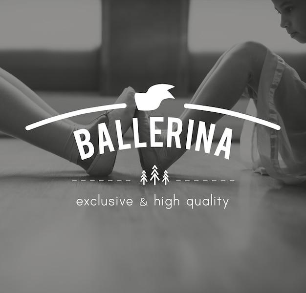Ballerina training perform eleegance icon Free Photo