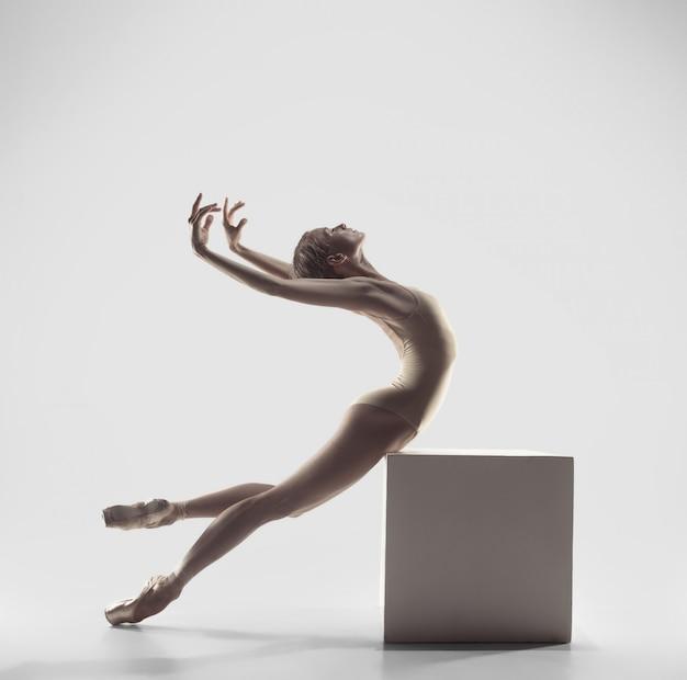 Ballerina. giovane grazioso femminile ballerino di danza classica. bellezza del balletto classico. Foto Gratuite