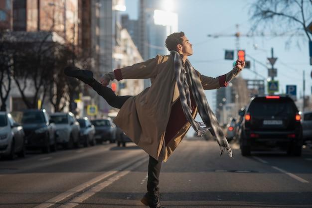 Ballet dancer in elegant position Free Photo