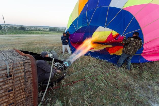 Balloon aerostat Premium Photo