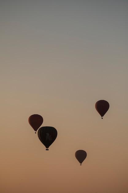 Balloon in sunrise light Free Photo