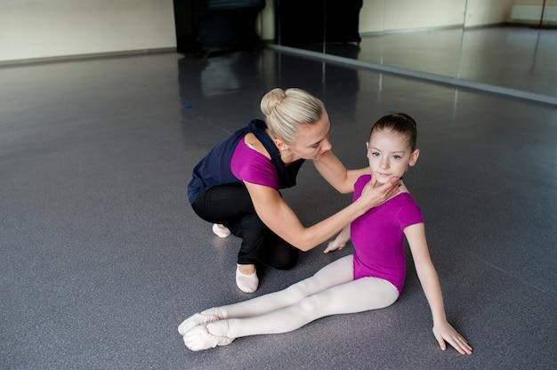 社交ダンスレッスン、子供 Premium写真