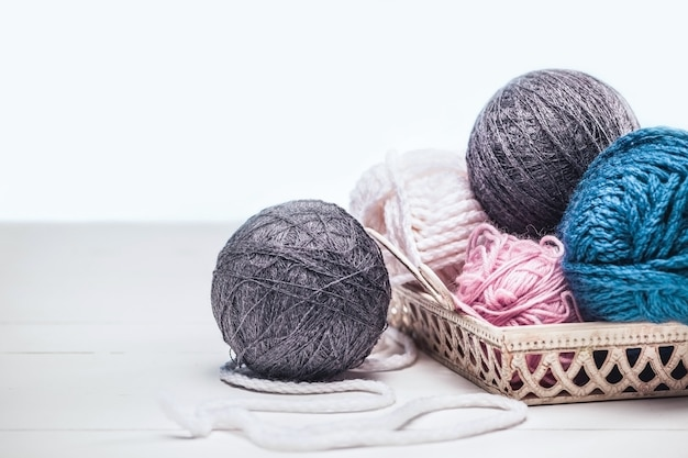 The balls of wool Free Photo