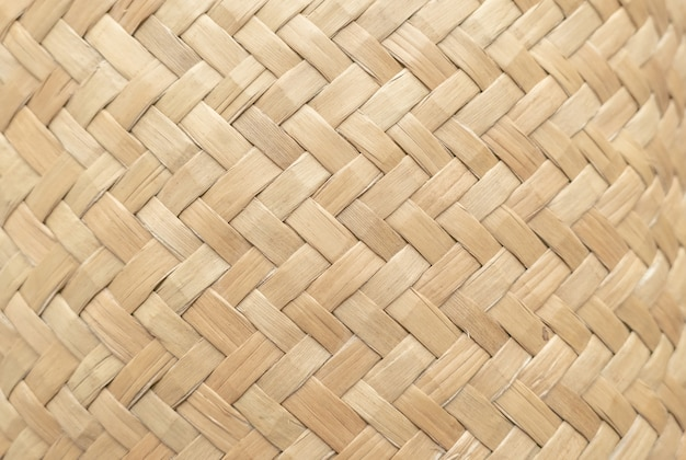 Bamboo basket texture for use as background . woven basket pattern and texture. Premium Photo