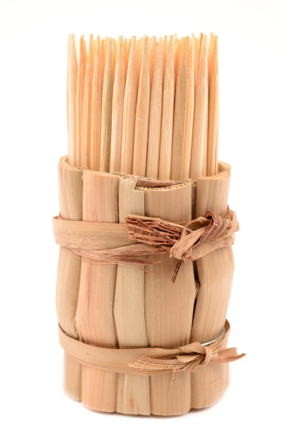 竹のつまようじ Premium写真