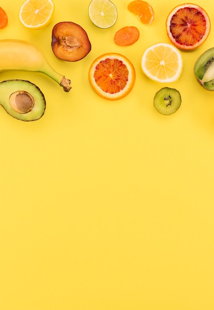 Банан и цитрусовые копией пространства Бесплатные Фотографии