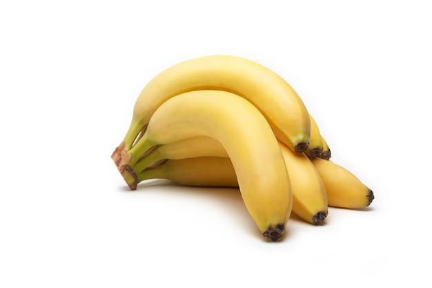 Banana fruit on white Premium Photo
