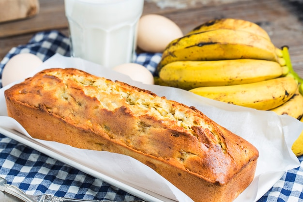 Banana pound cake Free Photo
