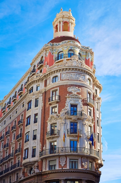 Banco de valencia building in pintor sorolla street Premium Photo