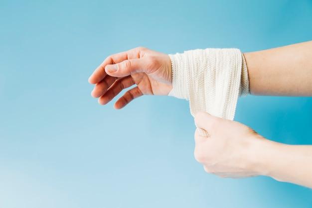Bandaged hand Free Photo