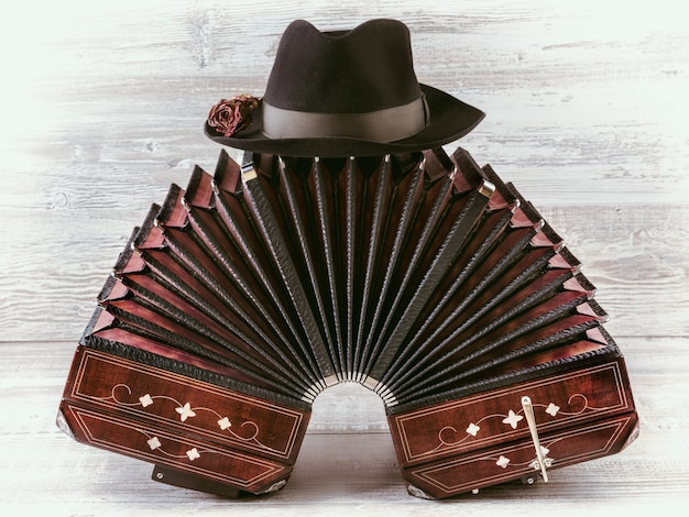 Bandoneon tango instrument Premium Photo