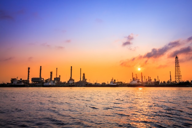 Bangchak petroleum's oil refinery Premium Photo