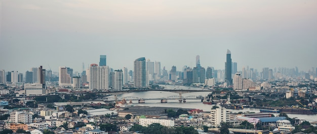 Bangkok city building tower Premium Photo