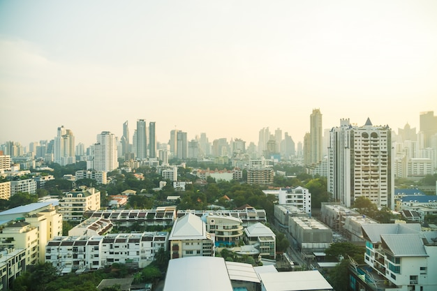 Bangkok city skyline Free Photo