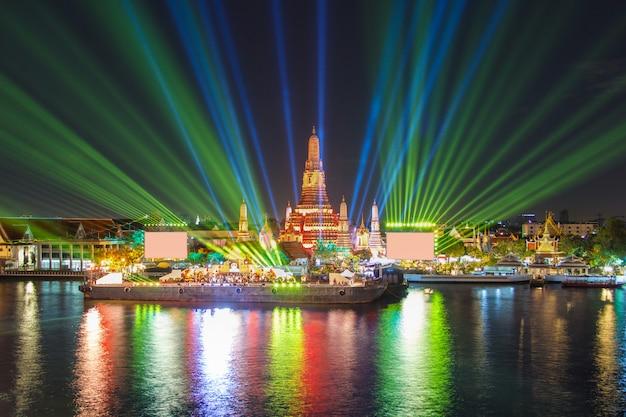 Bangkok new year at wat arun temple Premium Photo