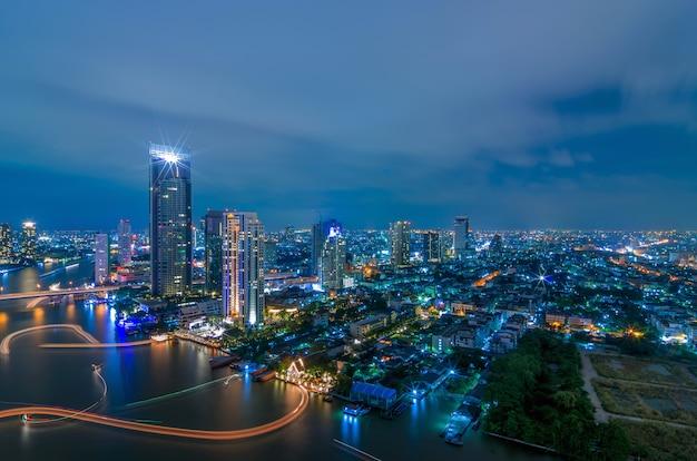 Bangkok night view Premium Photo