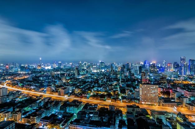 Bangkok night viwe Premium Photo