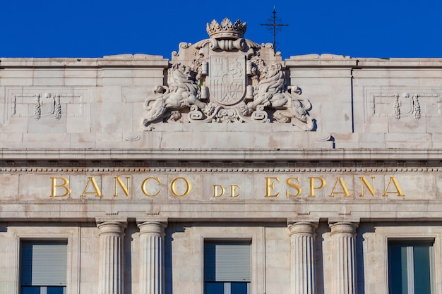 Bank of spain building located in santander (cantabria) Premium Photo