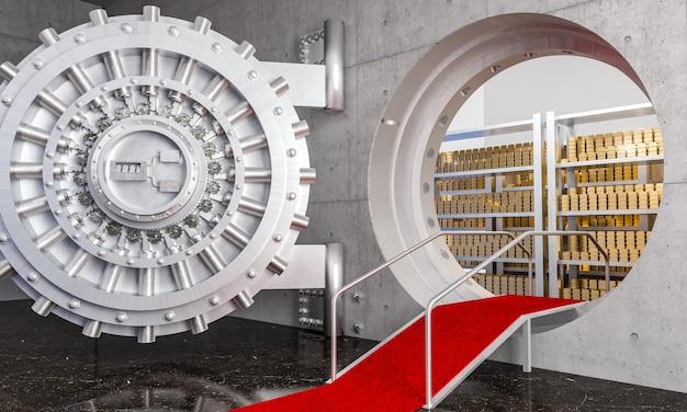 Банковское хранилище 3d Premium Фотографии
