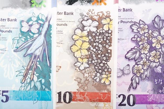 Banknotes of northern ireland Premium Photo