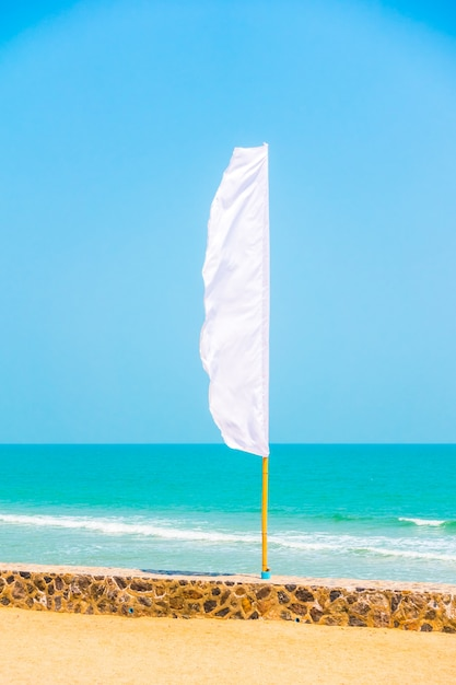 Banner abstract clear pole flags Free Photo