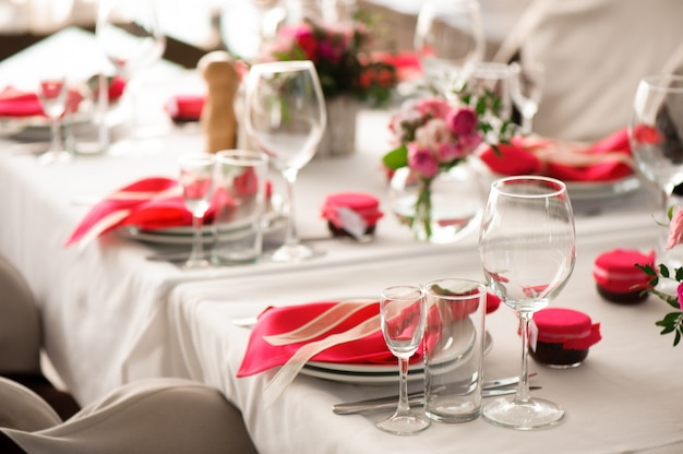 Banquet in a restaurant, party in a restaurant Premium Photo