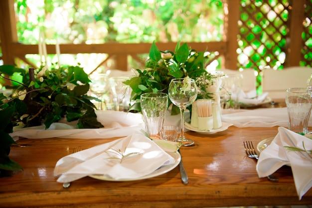 Banquet in a restaurant, party in a restaurant Premium Photo
