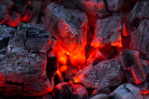 ,barbecue charcoal, burning charcoal Premium Photo