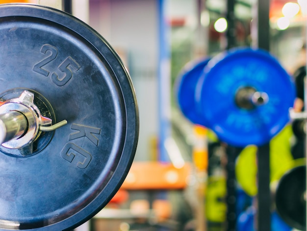 Barbell ready to workout Premium Photo