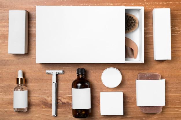 理髪店のグルーミングツールとボックス 無料写真