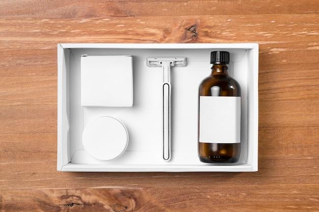 Инструменты для ухода за волосами в парикмахерской, масла и бритвы Бесплатные Фотографии
