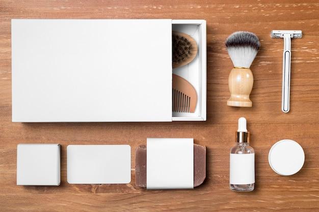 白い箱が付いている理髪店のグルーミングツール 無料写真