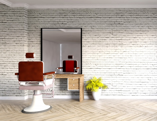 Barber shop interior photo premium download for Kappersinterieur