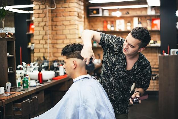 Barbershop hairdresser and hair salon Premium Photo