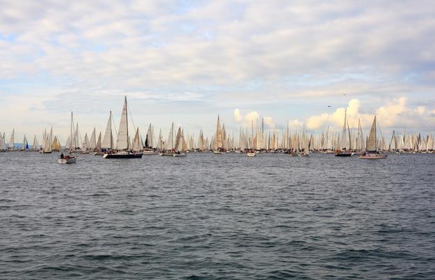 Barcolana regatta, trieste Premium Photo