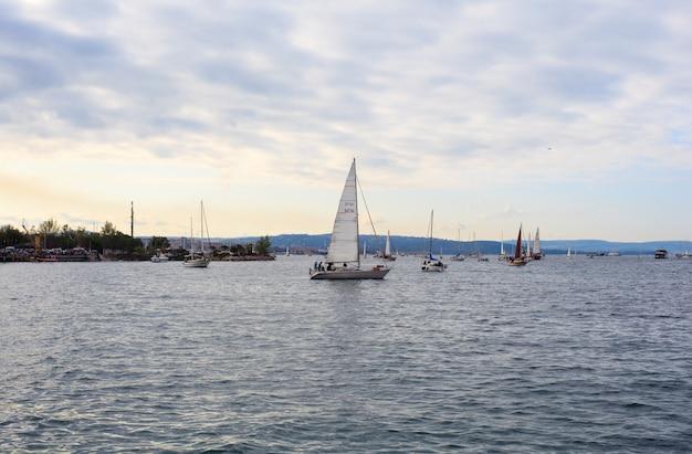 Barcolana regatta in trieste Premium Photo