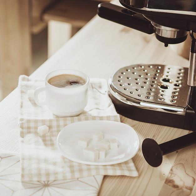 Кофеварка barista grinder Premium Фотографии