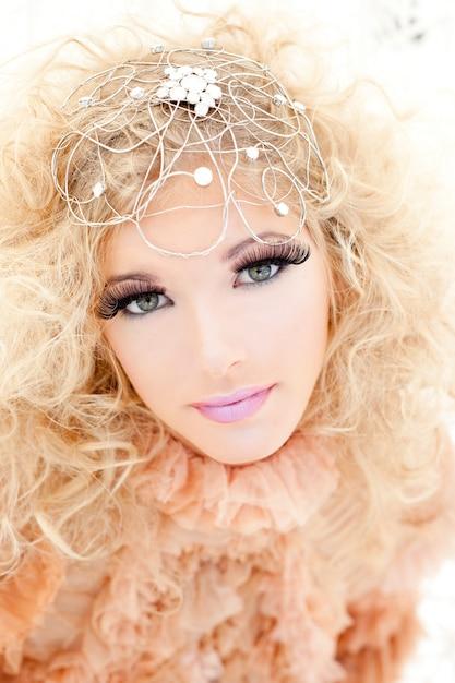 Baroque haute couture woman portrait Premium Photo