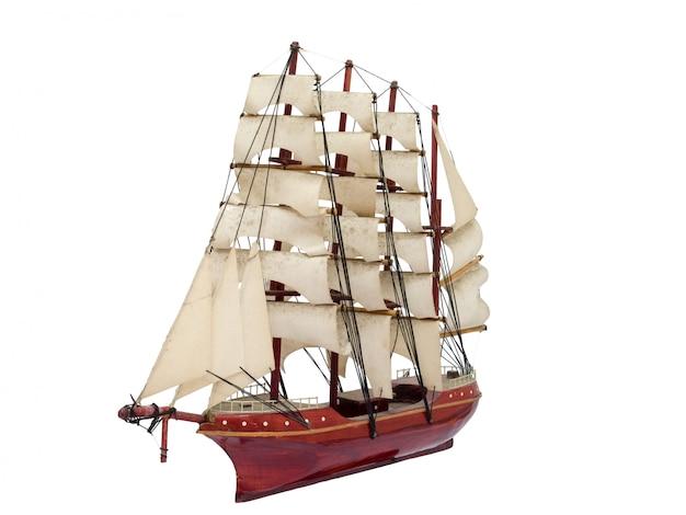 Barque ship gift craft model wooden Premium Photo