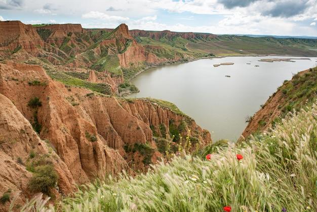 Barrancas de burujon, castrejon reservoir, guadamur Premium Photo