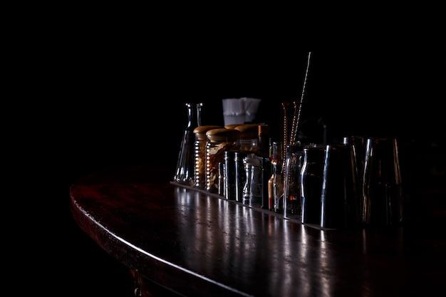Bartender tools on bar Premium Photo