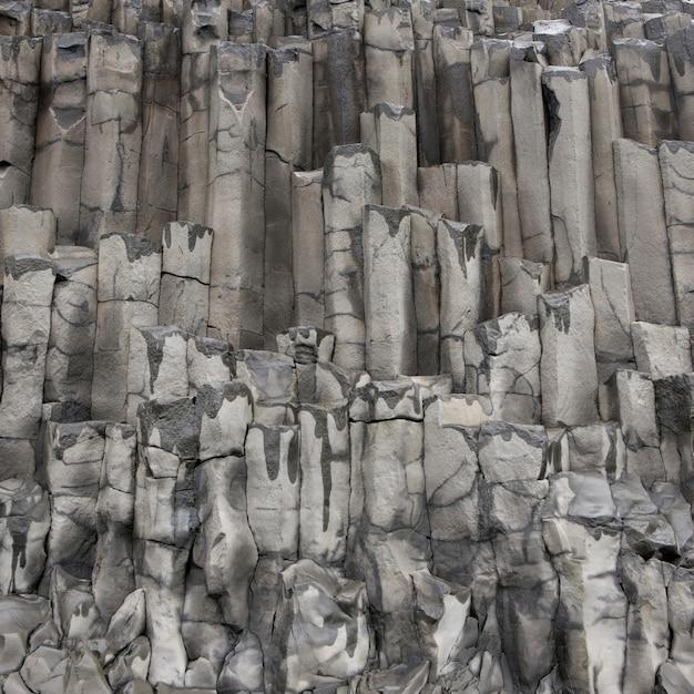 Basalt columns geological formation Premium Photo