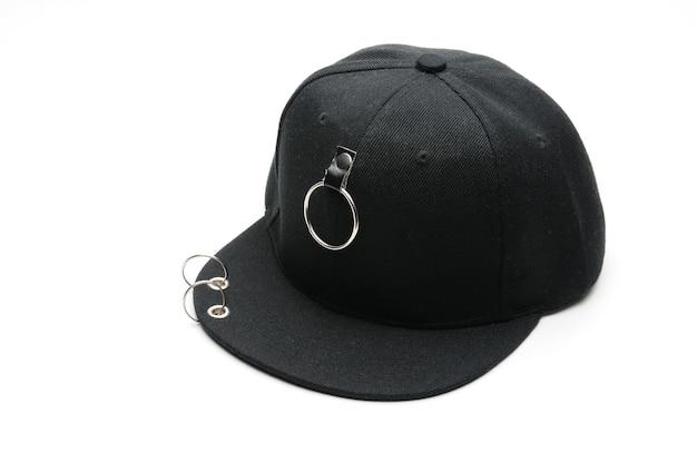 孤立した白い背景の上の十代の若者たちのための野球帽 Premium写真