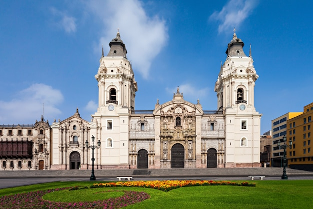 Basilica cathedral, lima city in peru Premium Photo
