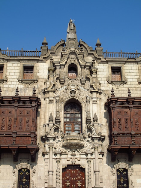 Basilica y monasterio de santo domingo, the church in lima city, peru Premium Photo