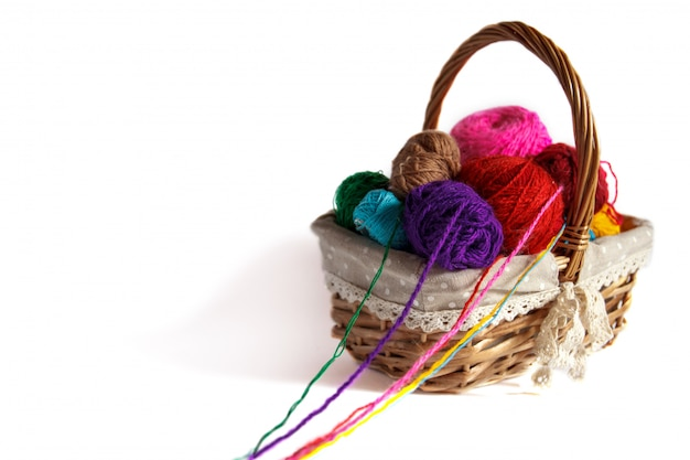 colored tangles for knitting