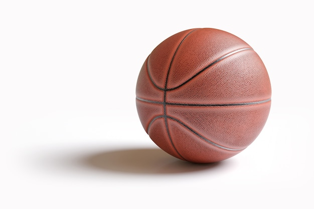 Basketball isolated on white with clipping path. Premium Photo
